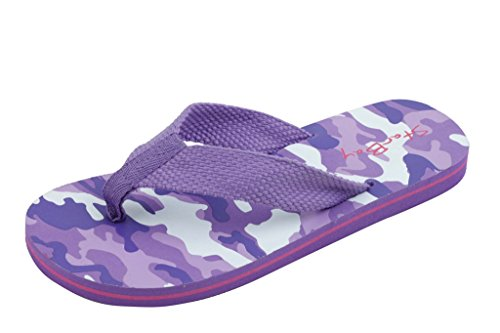 Sunville Starbay Kid's Slip-On Flip Flop Purple 2 M US Little Kid ()