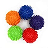 Facial Yoga Reflexology - Liobaba Spiky Foot Sole Hand Massage Ball Yoga Sports Fitness Hand Foot Pain Relief Tool Muscle Relax Apparatus Random Color
