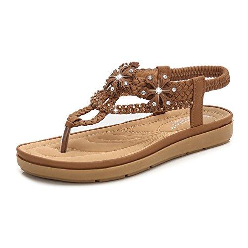 à Résistant 41 à de de L'usure Talons Marron Antidérapant Boucle 35 Sandales Plage Chaussures Sandales Féminines wUzAqIIp