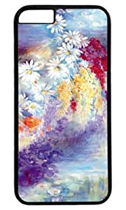 Watercolor Flower Paintings DIY Hard Shell Black iphone 6 plus Case Perfect By Custom Service