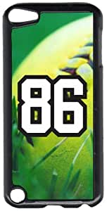 Softball Sports Fan Player Number 86 Black Plastic Decorative iPod iTouch 5th Generation Case