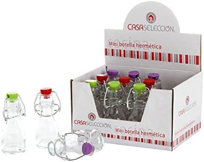 Mini botella de cristal 3 color (Caja de 12 mini botellas ...