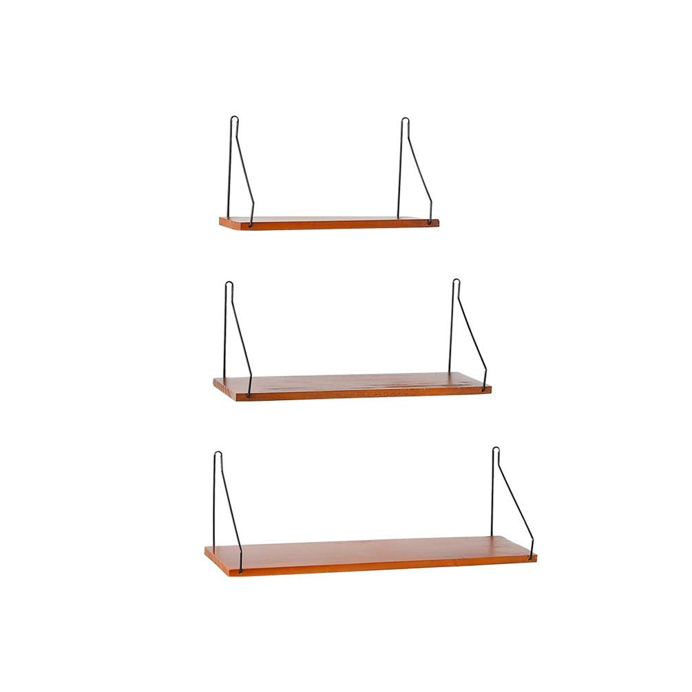 XYQS Simple Punch-Free Wall Hanging Kitchen Wall Rack Creative Solid Wood Word Partition Multi-Function Wooden Storage Rack (Size : Three-in-one)