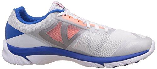 Reebok Zstrike Run, Zapatillas de Running para Hombre Blanco / Gris / Naranja / Azul (White / Opal / Tin Grey / Electric Peach / Blue)