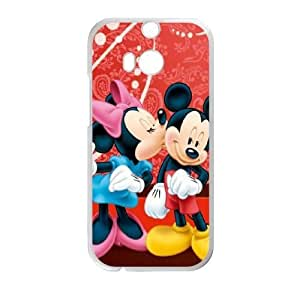 HTC One M8 Phone Case White Disney Mickey Mouse Minnie Mouse WQ5RT7417811