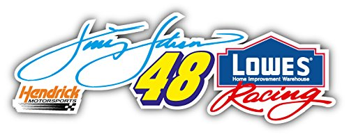 48 Jimmie Johnson Nascar Racing Car Bumper Sticker Decal 8'' x ()