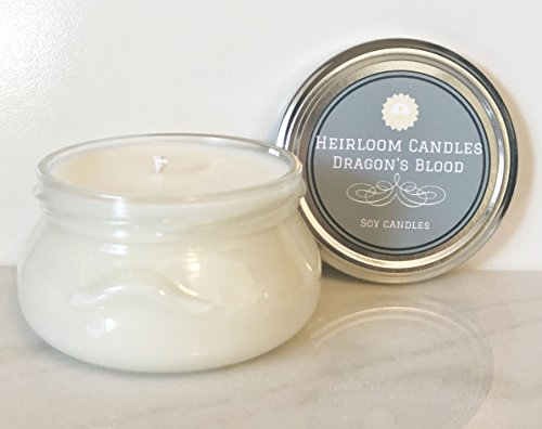 Dragon's Blood Scented Soy Candle - Incense Candle - Handmade Glass Jar, 6oz
