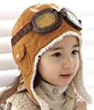 Brankid Brown Winter Baby Earflap,pilot Cap, Children Hats Boys, Flight Caps