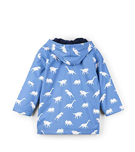 Hatley Boys' Big Splash Jacket, Color Changing Silhouette Dinos 7 Years by Hatley (Image #2)