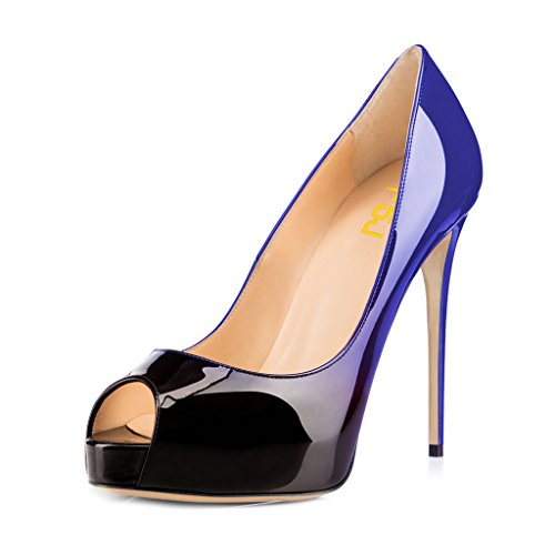 15 Pompe Fsj Piattaforma Alti gradiente Scarpe Sul Partito Peep Ballo Dimensioni Con Ci La Donne Grazioso Toe Tacchi Slittamento 4 Da Blu rrdUqz