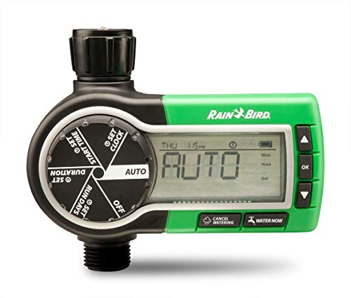 Rain Bird 1ZEHTMR Professional Grade Electronic Digital Hose End Timer/Controller, One Zone/Station, Battery Operated (Renewed)