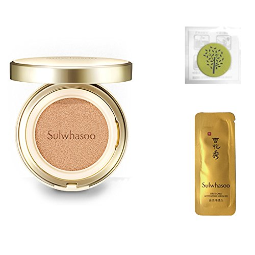 Ex Brightening - 2017 New Sulwhasoo Perfecting Cushion EX (No.21 Natural Pink) 0.53oz(15g)+Refill 0.53oz(15g)