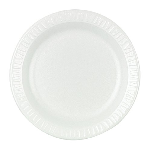 (Dart 10PWQR 10.25 in White Laminated Foam Plate (Case of 500))