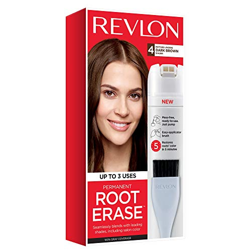 Revlon Root Erase Permanent Hair Color, Root Touchup Hair Dye, Dark Brown, 3.2 Fluid Ounce