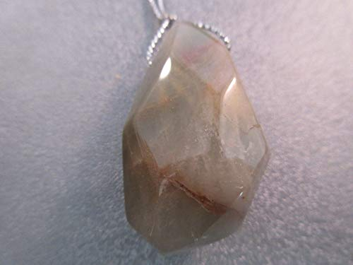 Green Phantom Rutilated Quartz Nugget Pendant 1pc #ID-651