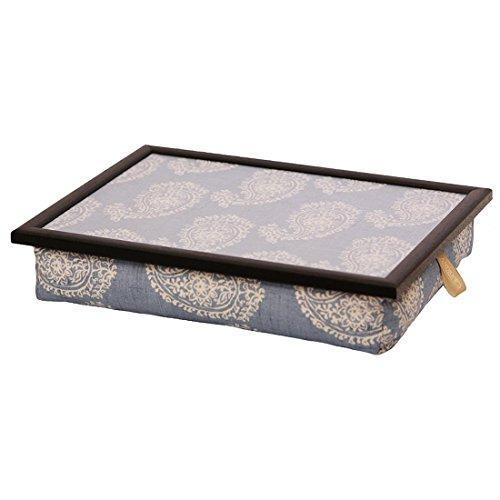 Andrew´s Knietablett Laptray mit Kissen Tablett Paisley Blau