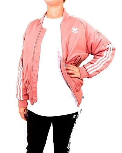 adidas Giacca Short Bomber BB Rosa-Bianco BQ7468-50, Rosa