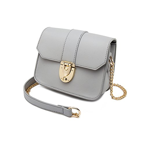 Ladies Summer Chain Backpack Shoulder Package Korean Gray Handbags Gray Packets Wild of Color The Mini Version Oblique 7q7APgw
