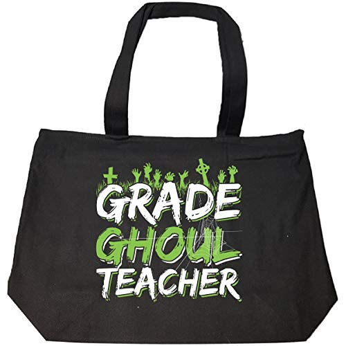Halloween Idea Grade Ghoul Teacher Funny Costume Gift - Tote Bag With -