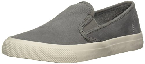 Sperry Top-Sider Women's Seaside Washable Leather Sneaker, Grey, 6 M US