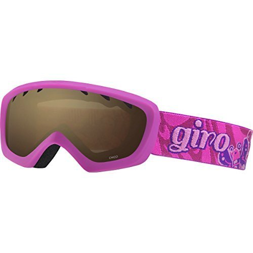 Giro Chico Youth Snow Goggles Berry / Magenta Butterflies / Amber (Child Ski Goggles)