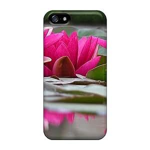 High Grade Flash-Men Flexible Tpu Case For Iphone 5/5s - Hot Pink