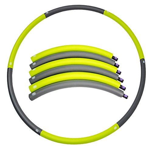 """Weighted Hula Hoop for Sports & Playing, 42"""" Snap Together Detachable Heavy Fitness Hoop, Easy Way to Workout Dance, Twist, Stretch, Home Fitness Sweat Weight Loss Workout Equipment"""