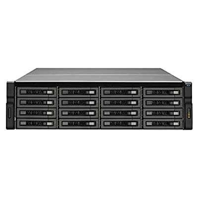 QNAP REXP-1610U-RP-US SAS/SATA/SSD 16-Bay 3U Rackmount RAID Expansion Enclosure for QNAP NAS by QNAP