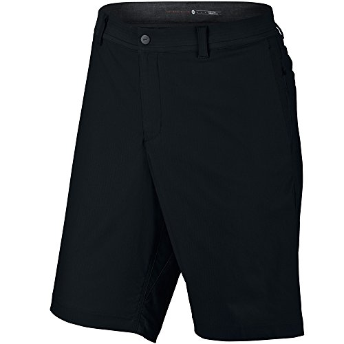 Nike Golf Men's Tiger Woods Practice Shorts 2.0, Black/Reflective Silver, 28 X 10.5