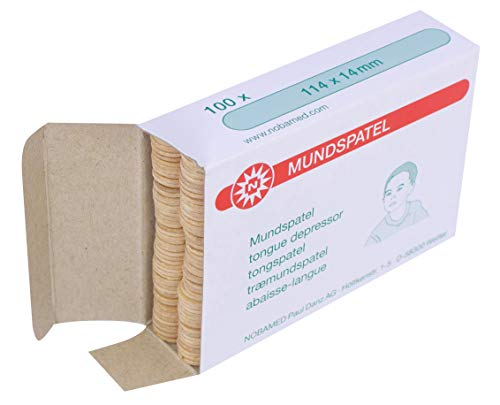 100 Espátula de Madera Espátulas para Niños para Manualidades 114 mm x 14 mm de Noba Verbandmittel 4