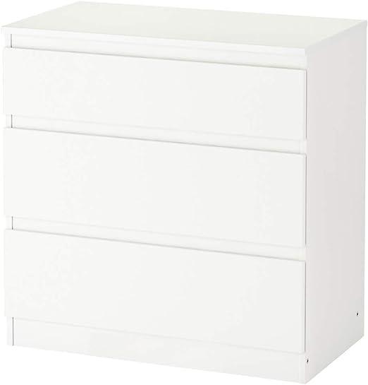 IKEA ASIA Kullen - Cajonera (3 cajones), Color Blanco: Amazon.es ...