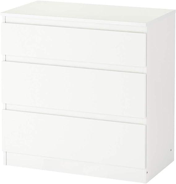 Ikea Asia Kullen Cómoda con 3 cajones de color blanco: Amazon.es ...