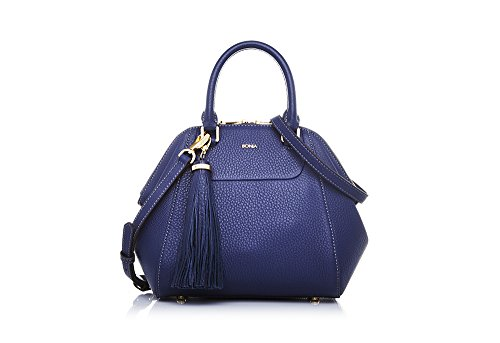 bonia-womans-blue-guilietta-satchel-s-one-size