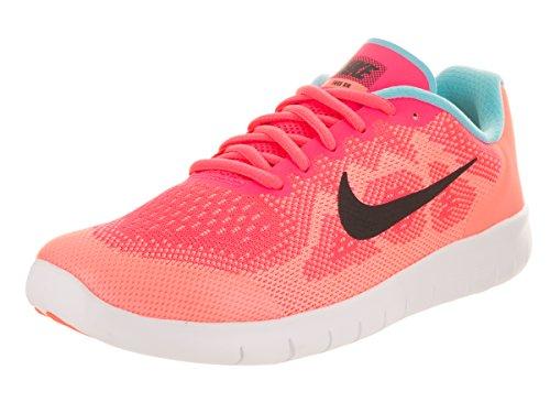 Nike Kids Free Rn (grande) Racer Rosa / Negro Lava Glow
