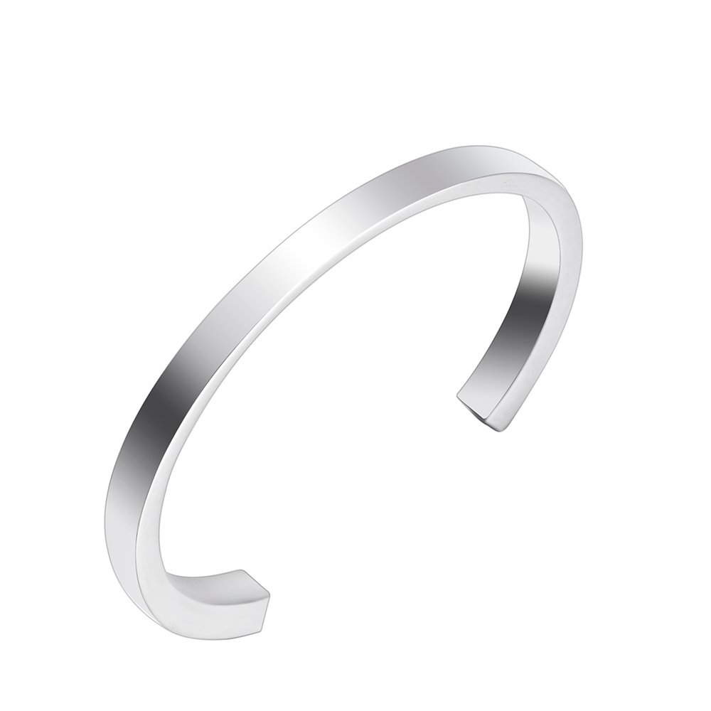 wonderful jewerly Free Engravable Stainless Steel Cremation Bracelet for Human Ashes Urn Jewelry (Steel)