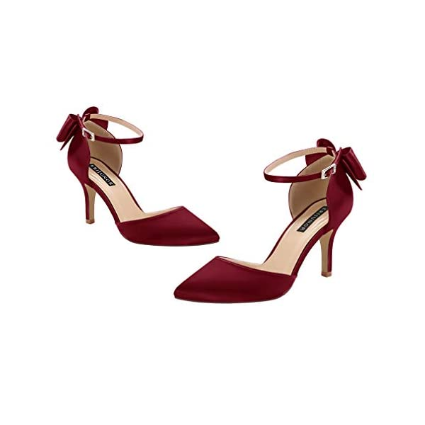 Bow Knot Ankle Strap Heels