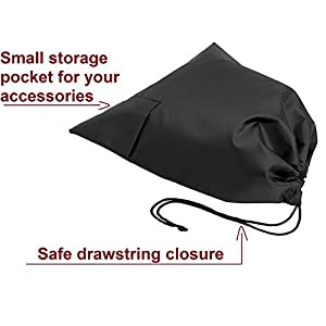 Travel Storage Shoe Bags - Durable and Reusable Waterproof Nylon Bag - Drawstring Closure for Shoes Footwear Protection- Pocket for ID Card, Accessories etc. -Pack of 3 by FloridaBrands
