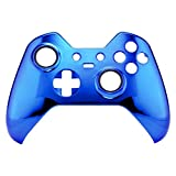 eXtremeRate® Custom Chrome Blue Replacement Front Shell for Xbox One Elite Controller