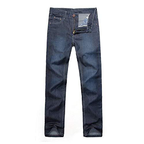 Oscuro 2018 Transpirables Jeans Cómodos Azul Elásticos Fashion Rectos Joven Loose Ufige Ancha De New Pantalones Men Pierna arqw0a