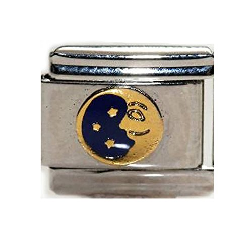 Moon Italian Charm Bracelet - SEXY SPARKLES Moon and Star Italian Bracelet Charm