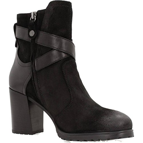 Geox D New Lise High a, Botas Para Mujer Negro