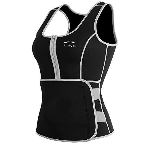 (ALONG FIT Waist Trainer Neoprene Cincher Sweat Vest for Women Sauna Vest Corset for Weight Loss ...)