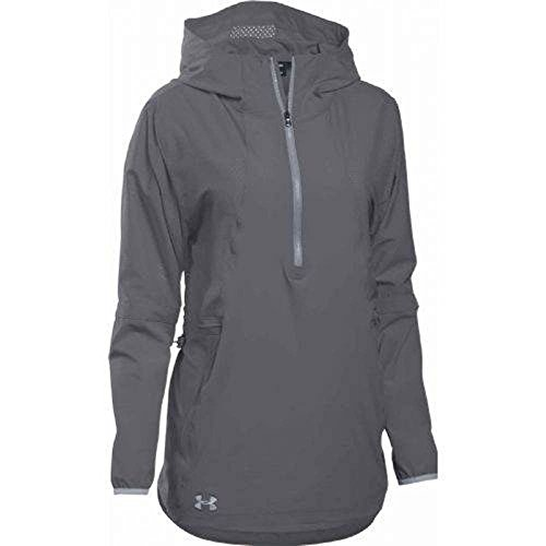 - Under Armour Women's Squad Woven 1/2 Zip Jacket (XX-Large, Graphite)