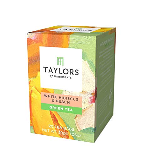 Taylors of Harrogate White Hibiscus & Peach Green Tea, 20 Teabags