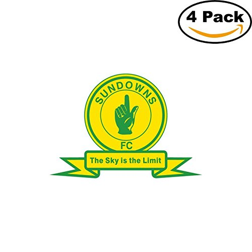 fan products of Mamelodi Sundowns South Africa Soccer Football Club FC 4 Stickers Car Bumper Window Sticker Decal 4X4