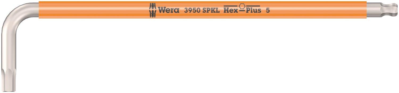 Wera 05022667001 L-Key 3950 SPKL Metric 8,0x195mm Silver