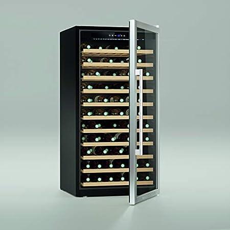 Maison Cavist CVST84 Vinoteca 84 Botellas, 230 litros, Ultra Silenciosa, Acero Inoxidable, Plata
