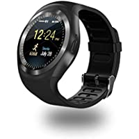 Y1 Waterproof Bluetooth Smart Watch Touch Screen MP3 Play Support Micro SIM Card for Android (BLACK)