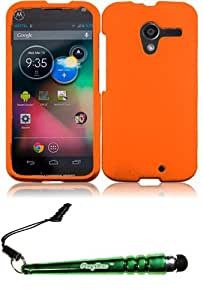 FoxyCase(TM) FREE stylus AND For Motorola Moto X Rubberized Cover Case - Orange cas couverture