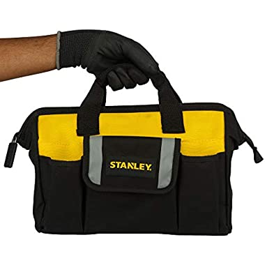 STANLEY STST512114 12'' Multipurpose Tools Storage Water Proof Open Mouth Bag (Yellow-Black) 13